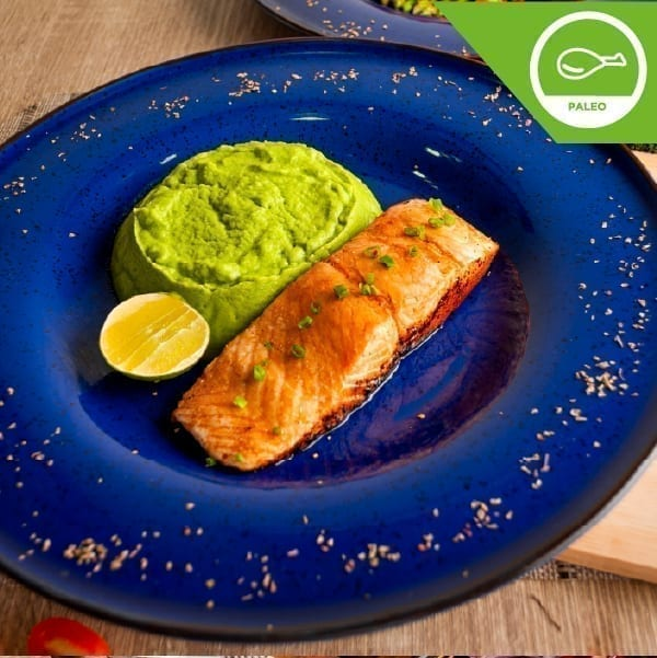 Atlantic Salmon with Maple Leaf Syrup and Mashed Broccoli