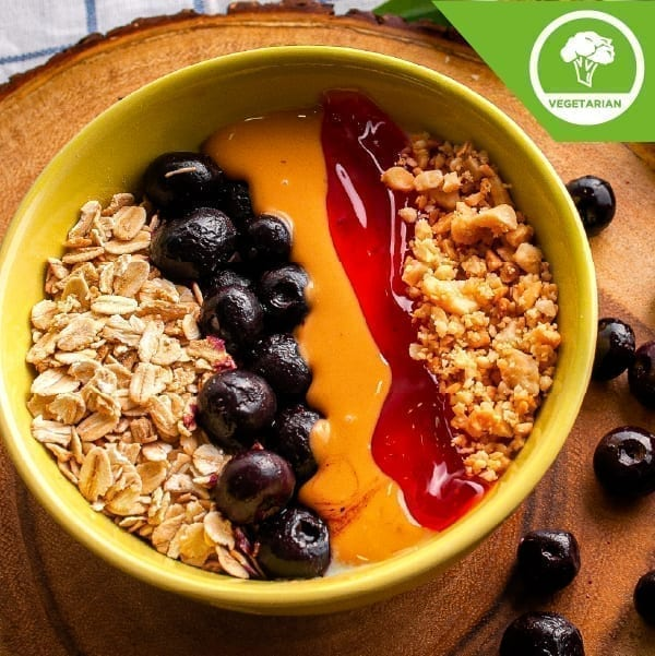 Peanut Butter Berry Jerry Bowl