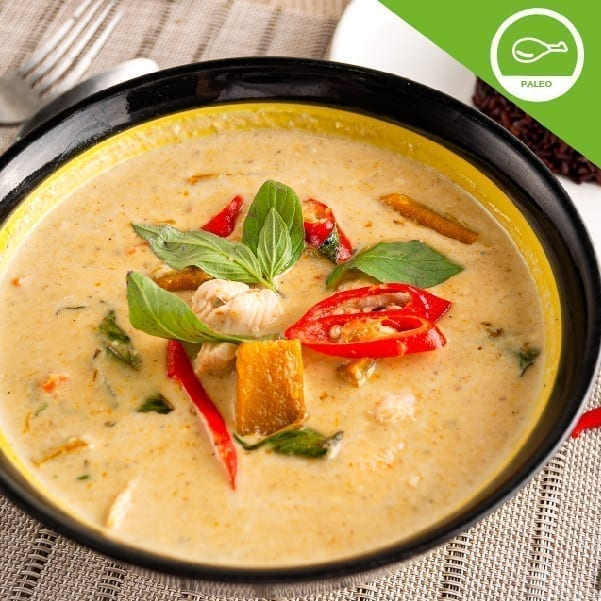 Green Curry Soup with Free-range Chicken