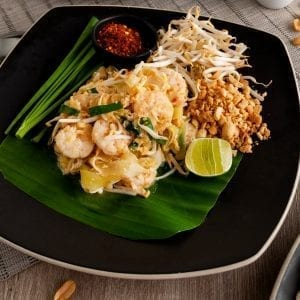 Papaya Pad Thai Shrimp