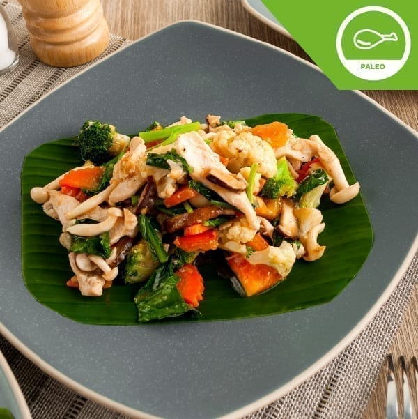 Stir Fried Vegetables with Free-range Chicken